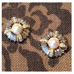 RARE! Vintage CHRISTIAN DIOR 1960's Clip Earrings